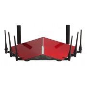 D-Link DIR-895L/R router wireless Banda tripla (2.4 GHz/5 GHz/5 GHz) Gigabit Ethernet Nero, Rosso