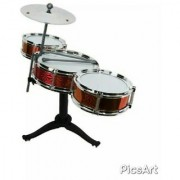 OH BABYBABY The New And Latest Jazz Drum Set For Kids With 3 Drums And 2 Sticks SE-ET-177