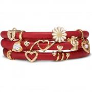 Bratara Personalizata Christina Piele Naturala Red Gold Love