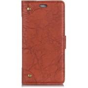 Mobigear Retro Copper Buckle Wallet Hoesje Bruin Huawei Mate 20 Pro
