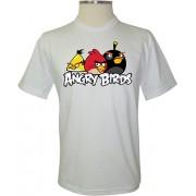 Camiseta Angry Birds Três Principais - Coleção Angry Birds