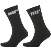 Myprotein Crew Socks - UK 6-8 - Black/Black