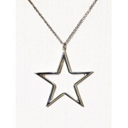 Blue Billie Big Star Charm Hängsmycken Silver