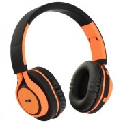 Maxy Art Cuffie Bluetooth Universali Ap-B04 Black-Orange Per Modelli A Marchio Doro