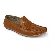 Shoe Island Premium Class Tan Brown Loafers