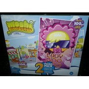 Mega Brands Two Set Moshi Monsters Puzzles: 150 Piece Panoramic Ooh La Lane And 100 Piece Lady Goo Goo