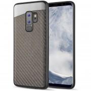 Funda Case Para Samsung S9 Plus Fibra De Carbono Con Metal Elegante - Gris