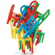 Padající židle rodinná zručnostní hra 24 židlí