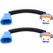 2 Pcs 9005 Auto HID Xenon Headlight Macho A Hembra Cable De Conversión Con Placa Socket Adaptador