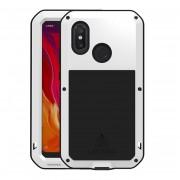 LOVE MEI Dust-proof Shock-proof Splash-proof Defender Phone Casing for Xiaomi Mi 8 (6.21-inch) - White