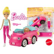 Barbie On The Go barbie cu masina roz FHV77