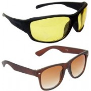 Hrinkar Sports Sunglasses(Yellow, Brown)