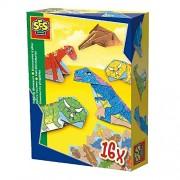 SES Creative Folding Dinosaurs Colorful Craft