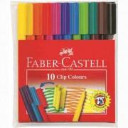 Carioca Cu Clip Faber-Castell 10 culori