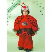 Costume Coccinella tg. 2/3 anni
