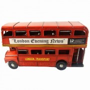 Nava New Vintage Metal Uk London Routemaster Red Double Decker Bus Toy Model Props