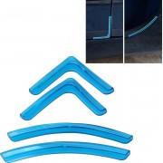 4 Stks / set Universele Auto Styling PVC Autodeur Rand Anti Collision Sticker Deur Anti-Rub Strips Autodeur Scratch Protector (blauw)