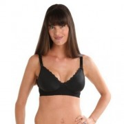 New Beginnings Ugrow Cotton Breast Feeding Bra Black L