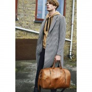 Still Nordic Leren Weekendtas Clean XL Cognac