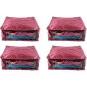 Ajabh High Qulity NEW COMBO OF 4PCS HIGHT SAREE COVER GIFT ORGANIZER TRAVLING BAG KEEP SAREE\SALWAR\JEANS\TOP ETC.(Maroon)