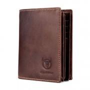 BULL CAPTAIN - barna bőr férfi pénztárca - álló - RFID védelemmel