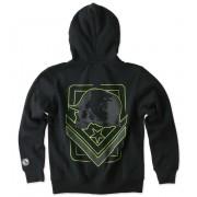 kapucnis pulóver gyermek - TAG ZIP - METAL MULISHA - M346S22300.01_BLK