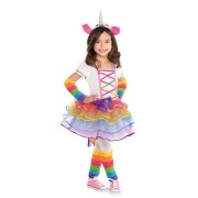 Liragram Disfraz de unicornio con tutú para niña - Talla 3 a 4 años