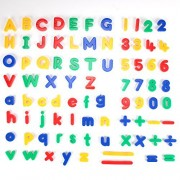 Clourf Magnetic Letters And Numbers For Educating Kids In Fun -Educational Alphabet Refrigerator Magnets -84 Pieces