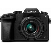 Aparat Foto Mirrorless Panasonic DMC-G7E, Obiectiv 14-42, 16.1 MP, CMOS, Filmare 4K (Negru)