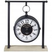 Zegar na biurko komodę stół RETRO LOFT metalowy 27X10X31CM