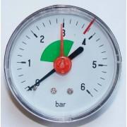 Géniusz 0-6 bar hátsós manométer