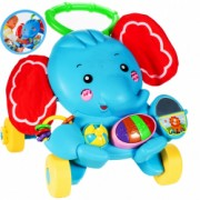Antepremergator MalPlay Piano 3 in 1 Elefant cu sunete si lumini