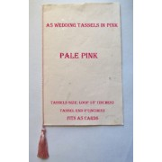 PINK A5 Tassels for use in Order of Service Cards PALE PINK Colour