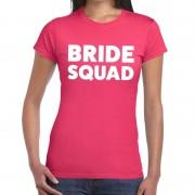 Bellatio Decorations Bride Squad fun t-shirt roze voor dames