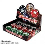 Grinder metalic din 2 parti tip jeton de poker 40mm