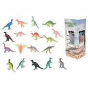Merkloos 18x Plastic speelgoed dinosaurussen 6 cm - Speelfigurenset