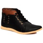 Footista Men's Black Lace-up Boots