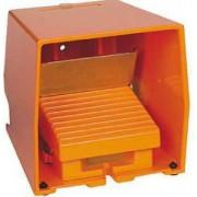 Comutator picior simplu - ip66 -cu capac -metalic -portocaliu - 2 nc + 2 no - Comutator de picior - Harmony xpe - XPER511 - Schneider Electric