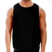 Modus Vivendi Croise Side Open Large Armhole Tank Top T Shirt Black 17231