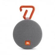 JBL Clip 2 - водоустойчив безжичен портативен спийкър (с карабинер) с микрофон за мобилни устройства (сив)