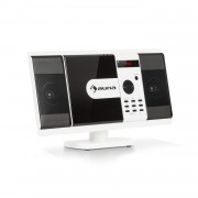 Auna MCD-82 BT, Вертикална стерео система, DVD/CD/Bluetooth/USB/SD/FM, HDMI, бяла (MCD6-82 BT-WH)