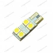 Footwell Light / Lumini picioare VW / Bec led T10 / W5W / 194 cu 4 SMD 5050 Alb 6000K
