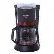 Filtru de cafea Albatros Delicia, 680 W, 8 - 10 ceşti, 1.2 L, Functie antipicurare, Cană de sticlă, Negru/Ornament rosu