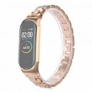 Stainless Steel Watch Band Strap for Xiaomi Mi Band 3/Smart Band 4 - Gold