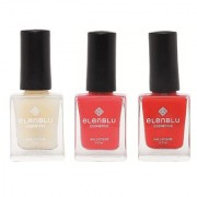 Elenblu White Water Top Top Coats Nail Polish Set of 2 Matte Nail Polish California Coral Wicked 9.9ml Each Bundle Offer