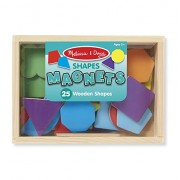 Melissa & Doug Magnetic Wooden Shapes and Colors, Multi Color