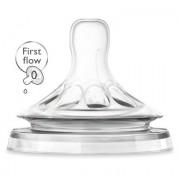 Avent PHILIPS SCF657/27 Natuurlijke speen voor pasgeborenen, 2 stuks - Transparent