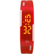 Silicone Red Digital Led Unisex Watch for Boys Girls