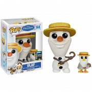 Funko Pop Frozen Olaf With Cane And Barbershop Quartet Hat 2015 Summer Convention-Multicolor