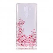Shop4 - Nokia 7 Plus Hoesje - Zachte Back Case Bloesem Transparant